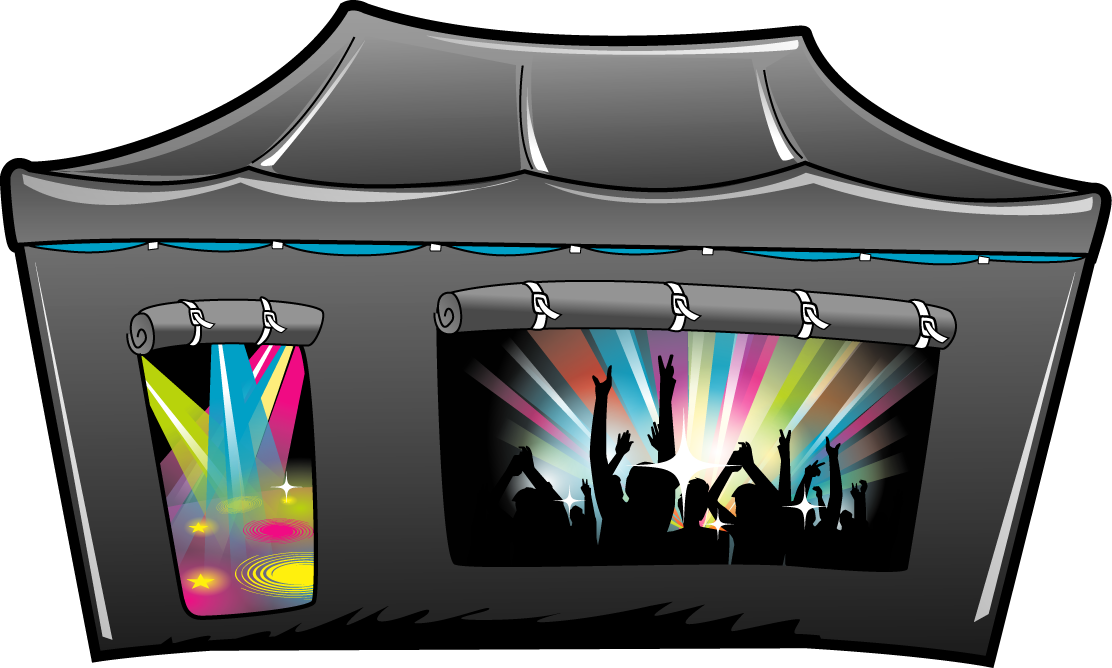 Rave Cave mobile nightclub