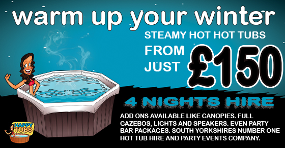 Winter hot tub hire in Doncaster South Yorkshire