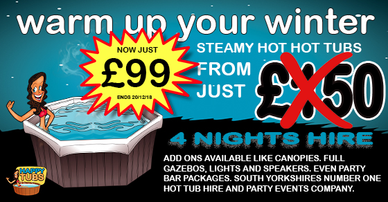 Hot tub hire deals in Doncaster South Yorkshire